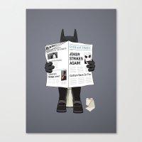 A Bat Sunday Canvas Print