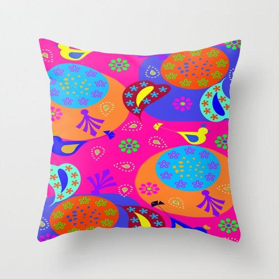 New Delhi Throw Pillow