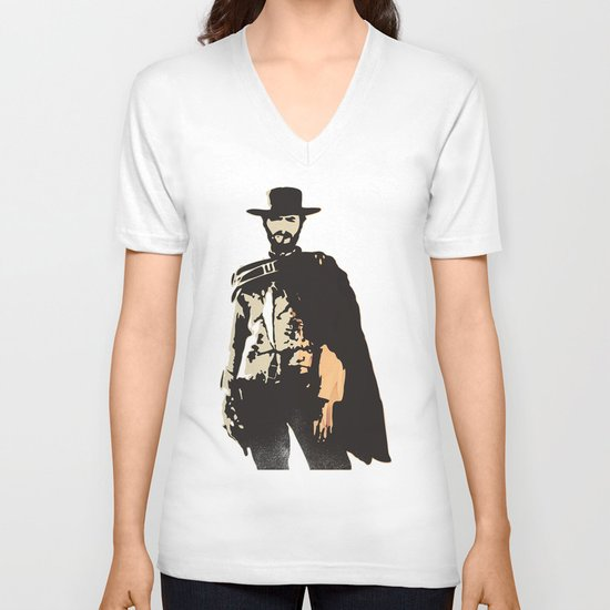 """""""The Man With No Name"""" is a Badass V-neck T-shirt"""