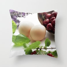 Fresh from the farm and the garden Throw Pillow