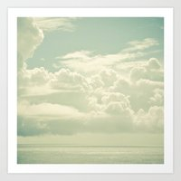 As the Clouds Gathered Art Print