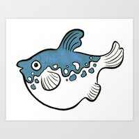 Blowfish Art Print