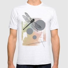Dragonfly (variant) Mens Fitted Tee Ash Grey SMALL