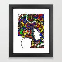 Rainbow Techno Framed Art Print