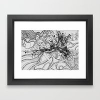 Magic Force / Original A4 Illustration / Pen & Ink Framed Art Print