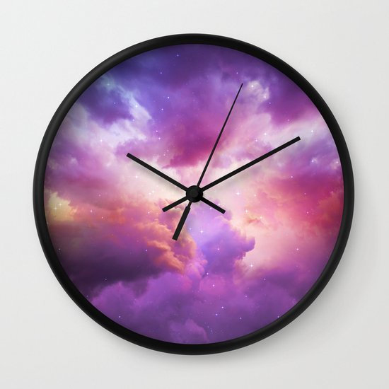 the skies are painted cloud galaxy wall clock by soaring