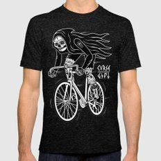 Death Rider Mens Fitted Tee Tri-Black SMALL