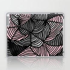 Abstract Pattern - Gray & Pink Laptop & iPad Skin