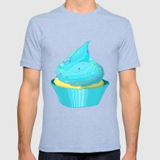 Cupcake Mens Fitted Tee Tri-Blue SMALL