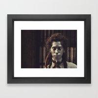 statue girl  Framed Art Print