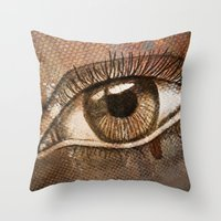 Refracted Canvas Throw Pillow