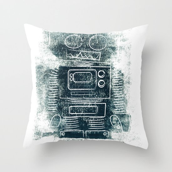 Robot Robot Throw Pillow
