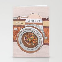 Wood Canon Stationery Cards