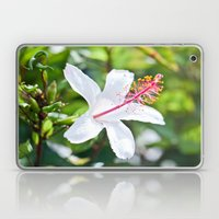 White Hibiscus Laptop & iPad Skin