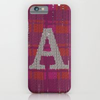 Winter clothes. Letter A III. iPhone 6 Slim Case