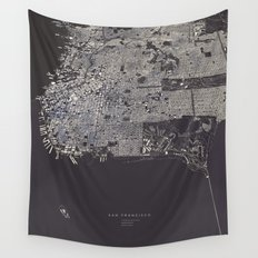 San Francisco City Map Wall Tapestry