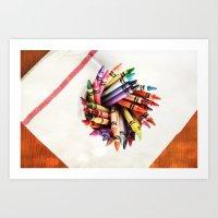 Crayon Love: Bright Bright Sunshiney day!! Art Print