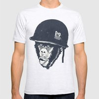 Monkey Mania Mens Fitted Tee Ash Grey SMALL