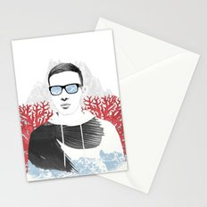 The depth of him Stationery Cards