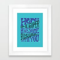 Awesome Future Framed Art Print