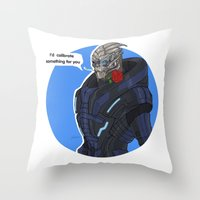 Garrus Throw Pillow