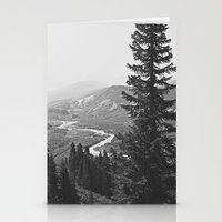 River Through The Mounta… Stationery Cards