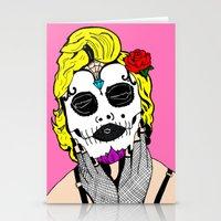 Dia De Los Marilyn En COLOR! Stationery Cards