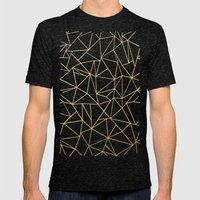 Abstraction Outline Gold… Mens Fitted Tee Tri-Black SMALL