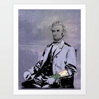 Inked Lincoln Art Print