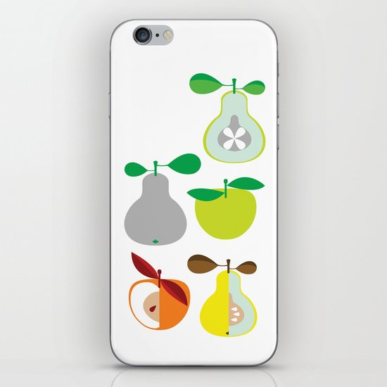 Apples and Pears / Geometrical 50s pattern of apples and pears iPhone & iPod Skin