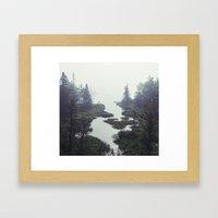 Moonlit Fogscape Framed Art Print