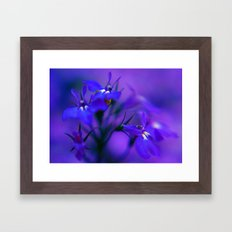 Blue & Purple Flowers Framed Art Print