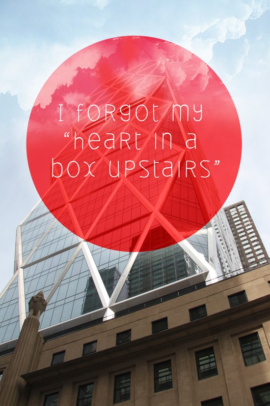 heart in a box upstairs Art Print