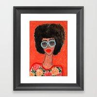 Afro Babe Framed Art Print