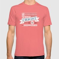 Philippians 4:13 Mens Fitted Tee Pomegranate SMALL