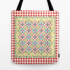 Cottage Chic Gingham II Tote Bag