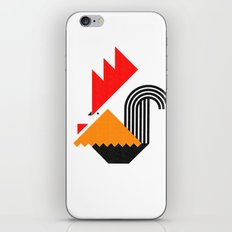 Rooster (white) iPhone & iPod Skin