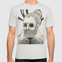 HOLLOWED MAN Mens Fitted Tee Silver SMALL