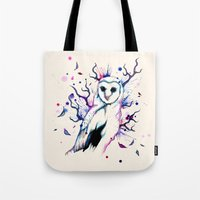 Cotton Candy Owl Tote Bag