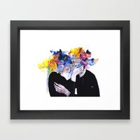 intimacy on display Framed Art Print
