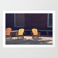 Yellow Chairs Art Print
