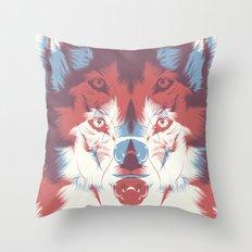 WOLF 3D Throw Pillow