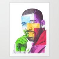 Drake Hotline  Art Print