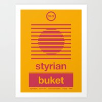 Art Print featuring styrian buket single hop by committee on opprobriations