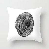 Tree Rings - Dark Throw Pillow