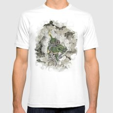 Dragon of The Mist SMALL White Mens Fitted Tee