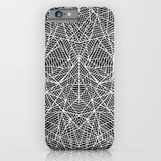 Abstract Lace on Black iPhone 6s Slim Case