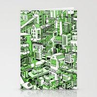 City Machine - Green Stationery Cards