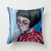 The Girl with Silver Hands  Throw Pillow