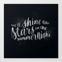 Shine Like Stars - Summe… Canvas Print